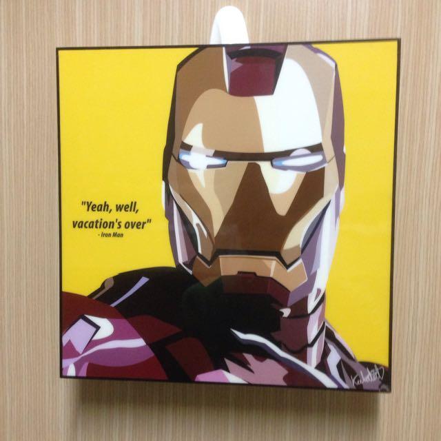 《64折》IRON MAN 壁畫