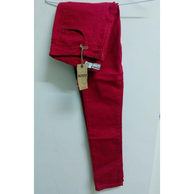 全新紅色牛仔長褲