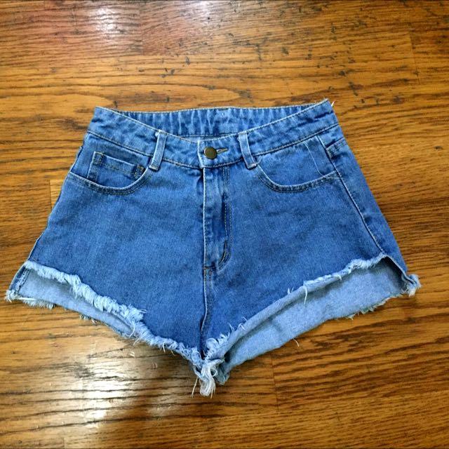 單寧短褲(深淺兩色)