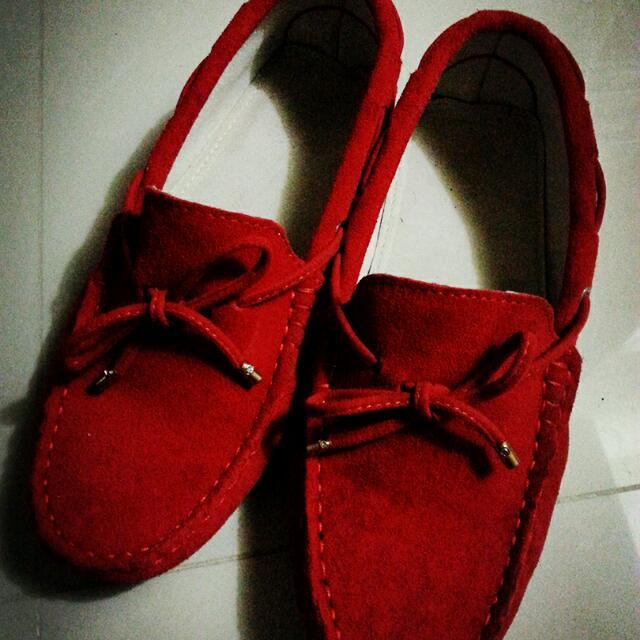 全牛皮小紅鞋