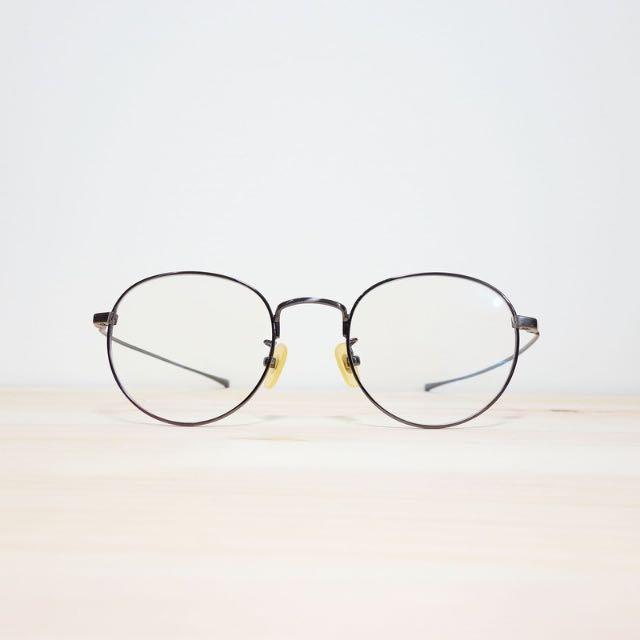 復古款純量化金屬輕量眼鏡