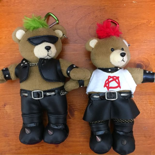 龐克男熊女熊 娃娃 掛飾