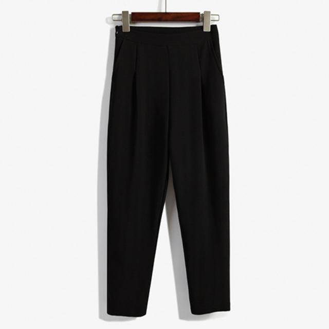 Bingo!現貨# 韓版西裝九分顯瘦哈倫褲|單一尺寸