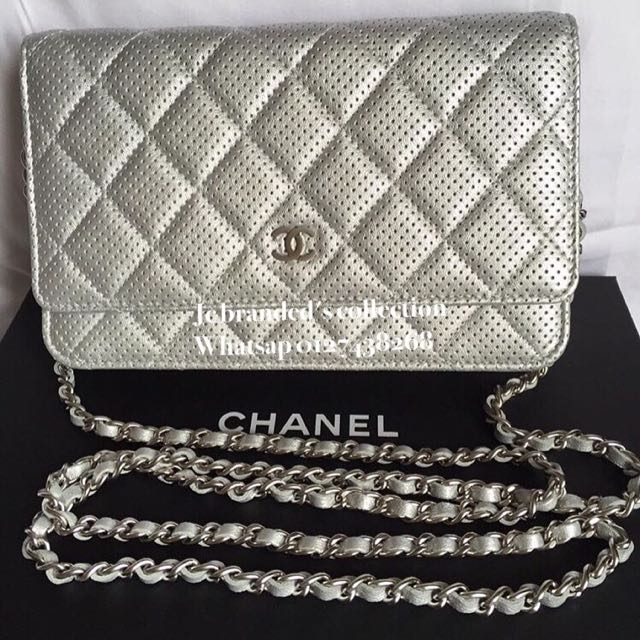 447544825d0368 BN. Chanel Woc Silver Perforated With Matt Shw, Luxury on Carousell