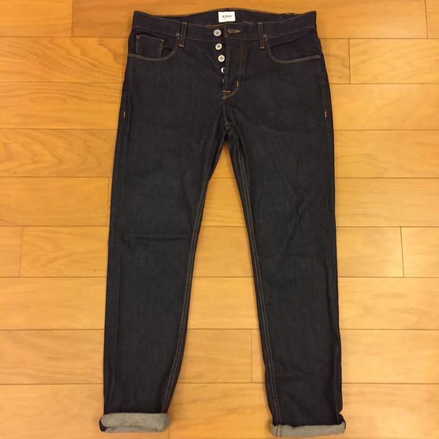 英國頂級品牌Hudson 修身直筒牛仔褲(美國製) Size 33腰