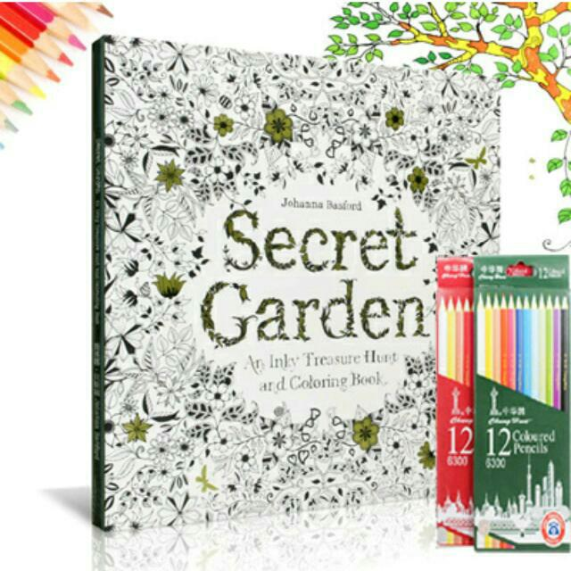 Secret Garden Colouring Book Coloring Book Books Amp Stationery On Carousell