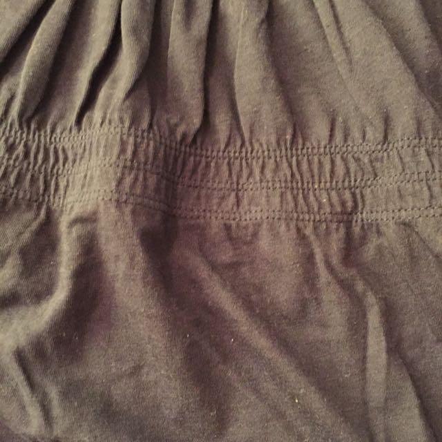 Zara TRF深藍色傘狀7分袖