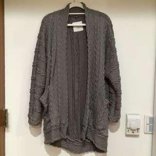 ORENDA立體麻花針織外套