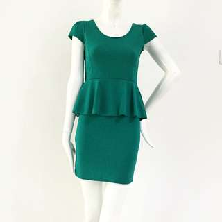 Peplum Mini Bodycon Dress