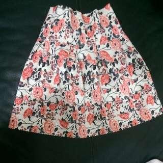 復古花裙子