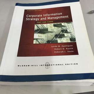 🚚 Corporate Information Strategy And Management-七成新原文書