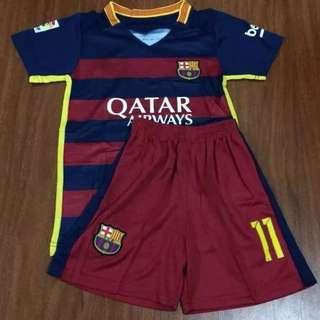 Red & Blue New Barcelona 2016 Jersey & Shorts Kids Set #11 Neymar