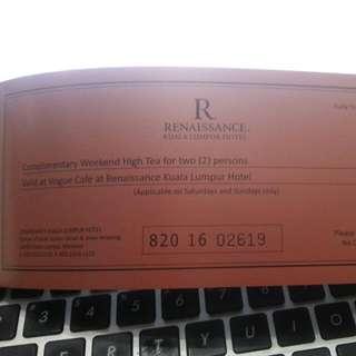 High Tea Voucher @ Renaissance Hotel KL