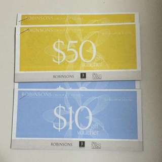Selling Robinson Vouchers $1000