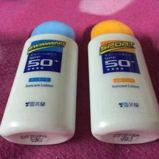 雪芙蘭 專業抗UV 防曬乳液 游泳戲水+運動沁涼