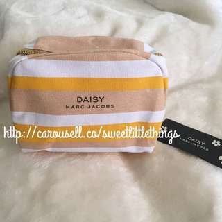 ✅InStock Marc By Marc Jacobs Yellow Daisy Pouch Makeup Bag Cosmetic Purse