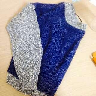 Zara針織拼接毛衣