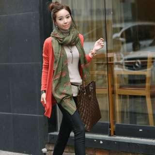 斑馬絲巾(綠色)
