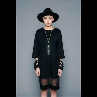 二手Vii&co特殊袖子黑長裙