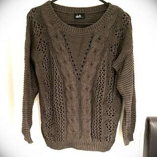 Dotti Green Army Sweater