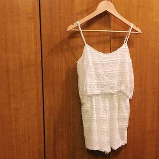 AUTHENTIC ZARA White Lace Romper