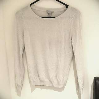 H&M Silver Sparkly Top