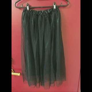 (保留)黑色長紗裙