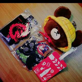 G-SHOCK行李牌 東京迪士尼可愛熊相框 可口可樂行李牌 #熊熊票夾已價出