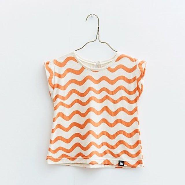 夏娃傘狀珊瑚波紋童裝短袖上衣 110cm