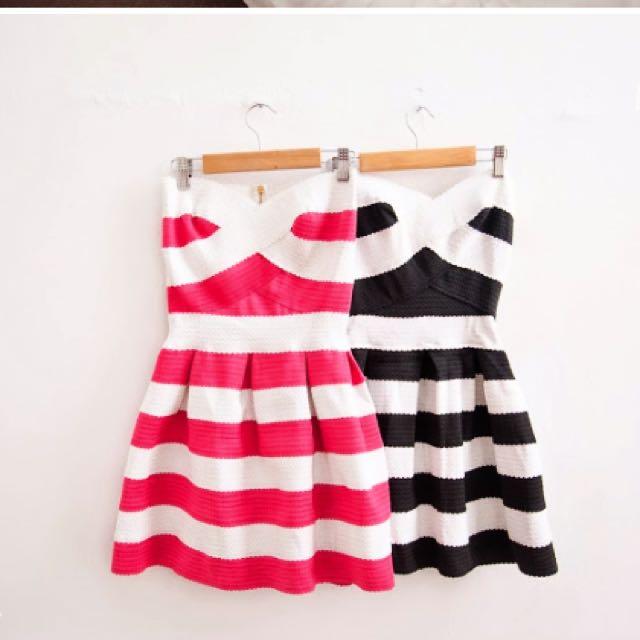 降價🛍夜店性感繃帶雙色洋裝