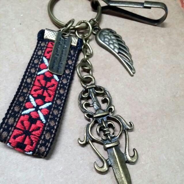 手作古銅鑰匙圈