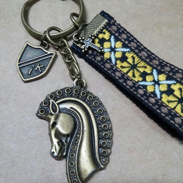 古銅手作鑰匙圈