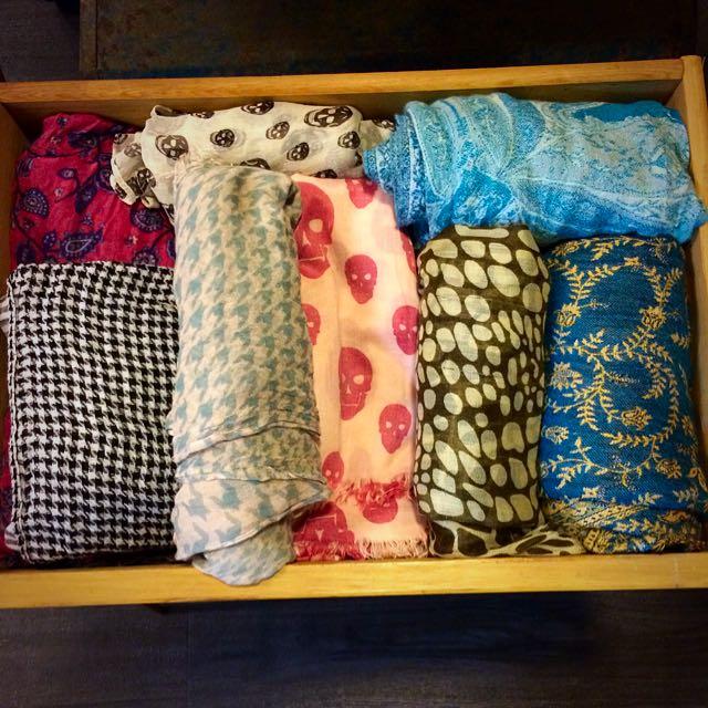二手 圍巾 絲巾 便宜賣