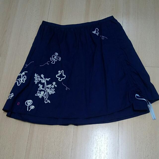 a la sha深藍圓裙