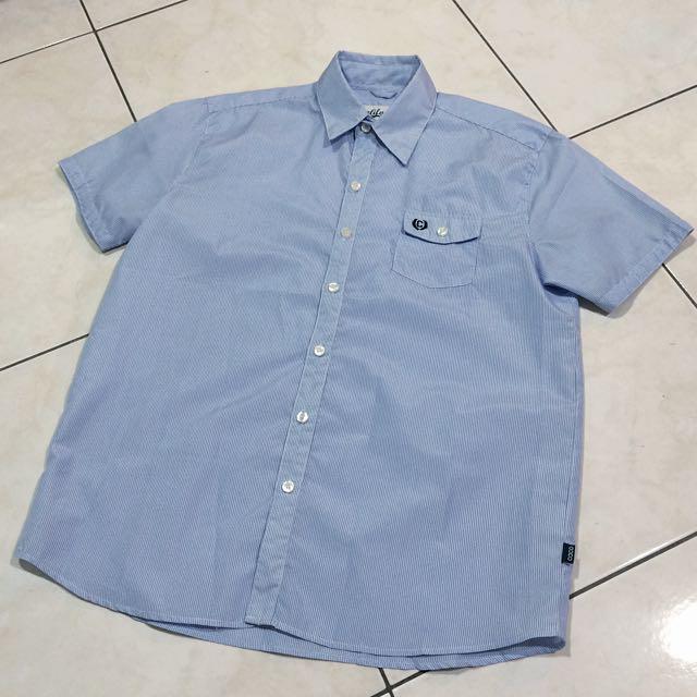 Caco短袖條紋襯衫
