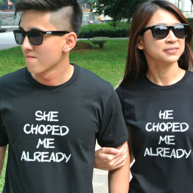 77540f302 Choped Couple Tee (Guy) - Designs Inspired by Singapore Culture ...