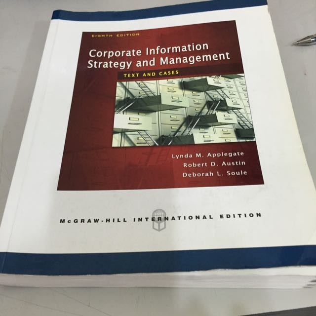 Corporate Information Strategy And Management-七成新原文書