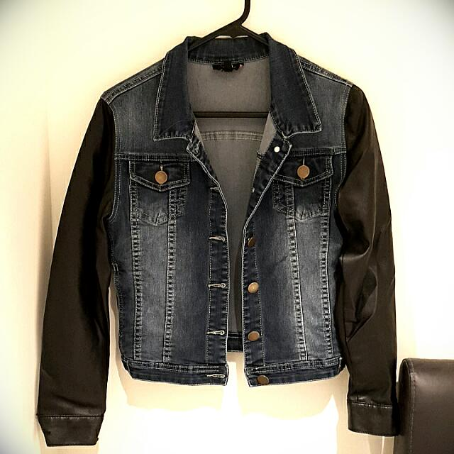 Ice Denim Leather Jacket