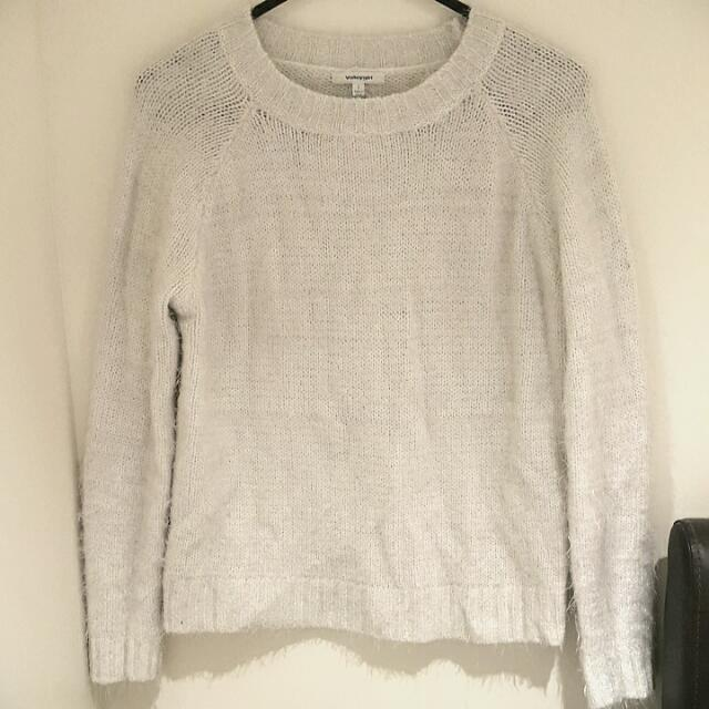 White Valleygirl Sweater