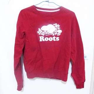 Roots紅色長袖T-shirt