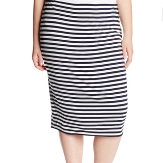 Vince Camuto Striped Midi Plus Size 3XL Skirt