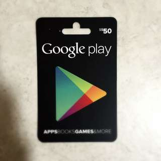 Google Play S$50 Selling At S$40