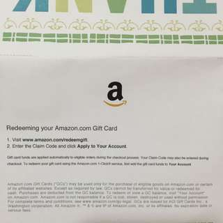 Amazon USD100 (S$143) Selling At S$120