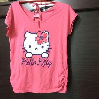 (保留中)短袖Hello Kitty棉T