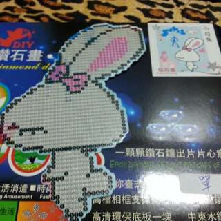 小白兔隨意貼 大張