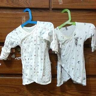 男女寶寶可愛圖案新生兒紗布衣/蝴蝶衣
