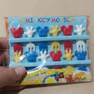 日本帶回 可愛 迪士尼 米奇造型 水果叉 便當叉 食物叉