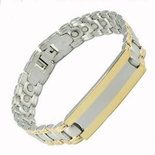 Fashion Titanium Magnetic Health Energy Bracelet NL8223 - Relieve Stress, Improve Blood Circulation, More Restful Sleep and Pain Relief.