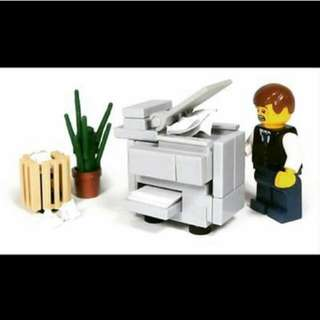 QQBricks MOC Office Printer