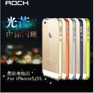 ROCK iPhone5s 來電閃 手機殼 炫彩透明 軟殼